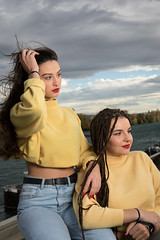 Charlotte & Inès (Claude Schildknecht) Tags: ad600pro alamercery beauty broncolor charlotte confluence europe france girl inès lyon makeupartist makeup manfrotto maquillage maquilleuse marion model museum muséedesconfluences places shooting woman redlips