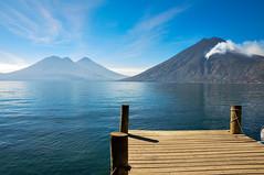 Atitlan Lake (Valdy71) Tags: lake atitlan guatemala lago vulcano volcano travel viaggi landscape water pier molo nikon valdy