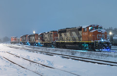 Stormy Slumber (Joseph Bishop) Tags: cn 9543 emd gp402w cndundassubdivision brantford trains train track tracks railfan railroad railway rail rails snow storm