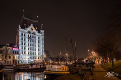 Find Yourself (TVZ Photography) Tags: hdr highdynamicrange wittehuis whitehouse architecture river water boat rotterdam city netherlands holland night evening longexposure lowlight sonya7riii zeiss loxia 21mm