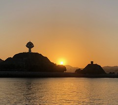 Sunset over Muscat (ISO 69) Tags: sonnenuntergang sunset oman muscat travel