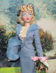 Gene Marshall Hello Hollywood Hello (The doll keeper) Tags: 1941 gene marshall hello hollywood blonde victory rolls blue fur suit skirt set