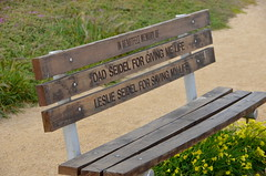 In heartfelt memory of Dad and Leslie Seidel (afagen) Tags: california pacificgrove montereypeninsula bench leslieseidel dadseidel