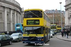 Dublin Bus RV371 (97D371). (Fred Dean Jnr) Tags: april2005 dublin dublinbus busathacliath dublinbusyellowbluelivery volvo olympian alexander r collegegreendublin dublinbusroute16a rv371 97d371 1132 r94lhk