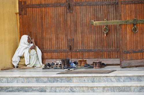 Shoe keeper, Church of St. Mary of Zion, Aksum, Ethiopia