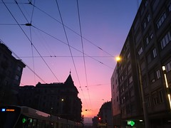 Pink vision (pinkcappuccino) Tags: swiss suisse genève ville city walk morning matin bleu cielo sky ciel rose pink