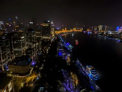 views from the Indigo hotel  roof terrace (walterkolkma) Tags: china shanghai pudong bund river hanpu building architecture urban city cityscape neon lights walter kolkma panasonic nikon p900