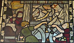 [69080] Birmingham : BM&AG - St George and the Dragon (Budby) Tags: birmingham westmidlands artgallery museum stainedglass window preraphaelite
