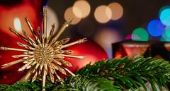 Merry Christmas (norbert.wegner) Tags: macromondays holidaybokeh christmas decoration celebration holiday illuminated defocused red christmastree christmasdecoration christmasornament night shiny cultures ornate nopeople multicolored closeup year lightingequipment decor