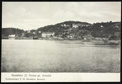 Postkort fra Agder (Avtrykket) Tags: bolighus hus postkort seilskute sjø uthus arendal austagder norway nor