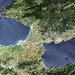 The Isthmus of Corinth has played a very important role in the history of Greece. Original from NASA. Digitally enhanced by rawpixel.