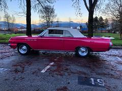 Pink Sunset (Pennan_Brae) Tags: 1963 1960s pink hotpink pinkcar weddingcar moviecar vintagecars classiccars americancar convertible vintagecar classiccar buickskylark buick