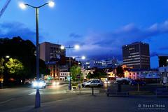 20181107-04-Hobart streets (Roger T Wong) Tags: 2018 australia carlzeiss35mmf28 hobart rogertwong sel35f28z sonya7iii sonyalpha7iii sonyfe35mmf28zacarlzeisssonnart sonyilce7m3 tasmania bluehour buildings evening lights street