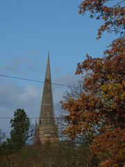Spire of St Alphege Church from Widney Manor Road (ell brown) Tags: solihull westmidlands england unitedkingdom greatbritain churchhillrd stalphegeschurch stalphegeschurchsolihull stalphege spire widneymanor widneymanorrd tree trees autumn gradeilistedbuilding gradeilisted churchofsaintalphege remembrancesunday