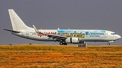 SpiceJet Boeing B737-800 VT-SLJ Bangalore (BLR/VOBL) (Aiel) Tags: spicejet boeing b737 b737800 vtslj bangalore bengaluru canon60d tamron70300vc telangana telanganatourism