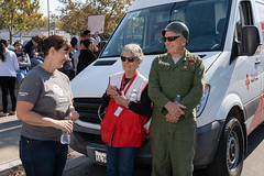 Nikki Rowe, Rada Ford, Jack Ford before parade (American Red Cross of Silicon Valley) Tags: americanredcross siliconvalleychapter veteransdayparade sanjose markbutler