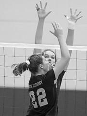 IMG_4715 (SJH Foto) Tags: girls high school volleyball garnet valley north allegheny state semifinals black white blackandwhite bw monocolour net battle spike block action shot jump midair