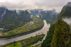 Xianggong Hill China Drone View (www.mikereidphotography.com) Tags: china guilin drone yangshuo aerial asia mavic mavicpro2 xianggong