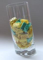 Lego Modulex 2x4 - Mx Light Yellow and Mx Aqua Green (Fantastic Brick) Tags: lego 2x4 modulex brick mx aquagreen lightyellow 1990 2000
