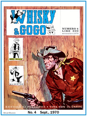Whisky & Gogo  No. 4  Sept., 1970 (StarRunn) Tags: whiskygogo western comicbook cowboy rickoshay sylvester cat wb looneytunes italian