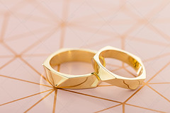 Two golden wedding rings on pastel pink background (Aleksa Torri) Tags: wedding rings background white engagement gold ribbon golden love ceremony couple card decoration pair romantic romance marriage invitation jewelry bride anniversary band banner bridal copyspace designer elegance elegant event fancy festive groom happy invite jewel jewelery luxury marry modern nuptials platinum together two wed pastel pink lifestyle yellow geometric hipster