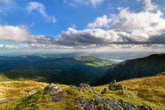 Light and shadow (Rico the noob) Tags: grass d850 lakedistrict landscape 20mm outlook mountains outdoor hills clouds lake published travel horizon water 2018 sky nature dof 20mmf18 uk mountain