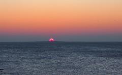 Sunset behind Lady Isle lighthouse seen from Troon (cmax211) Tags: troon sunset lady isle lighthouse clyde ayrshire scotland sundown