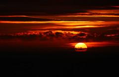Fire (Jess Roberts7) Tags: fire red orange black sea sky sun sunset aberystwyth horizon 70300mm canon seascape