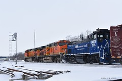 Surprise Switcher (R.G. Five) Tags: gmtx mp15 switcher railroad oregon il bnsf aurora sub train