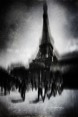 3342 (Elke Kulhawy) Tags: paris portdesuffren pontdelena bw bnw monchrome blackandwhite art kunst city stadt seine eifeltower people