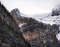 One of many Glaciers above Moraine Lake in Banff National Park, Alberta (PhotosToArtByMike) Tags: morainelake glacier glaciers banff banffnationalpark valleyofthetenpeaks canadianrockies albertacanada mountain mountains emeraldlake tenpeaks