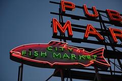 City Fish Market neon sign Seattle, WA (the art of neon signs) Tags: vintage neon signs neonsign roadsideamerica johnbarnesphotography culturalheritage seattle americanfolkart theartofneonsigns