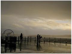 Beautiful Storm (prima seadiva) Tags: market pikeplace rainy weather clouds misty people silhouette