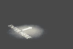 Here? (Paul J's) Tags: newplymouth taranaki pukeariki museum illusionnothingisasitseems sign