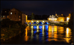 Ducey_0384 (.MLN) Tags: france normandy manche ducey sélune night lights river reflection bridge