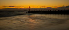 Sunrise at the beach, Aberdeen, Scotland (PeskyMesky) Tags: aberdeen aberdeenbeach sunrise sunset water sea ocean red scotland sky beach