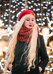 DSC_8271 (angelina.solberg) Tags: portrait moscow model night city street streetstyle ootd longhair winter christmas snow russia