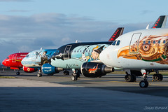 Four Belgian icons of Brussels Airlines shining in the sun! (Jonas_Evrard) Tags: aviation airport aircraft airplane airliner spotting spotter specialpaint photography planespotting plane planes planespotter brussel brusselsairlines icons photoshoot