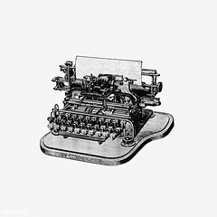 Vintage typewriter illustration (Free Public Domain Illustrations by rawpixel) Tags: ancient antique art arts artwork author black blackandwhite cc0 classic creativecommons0 decor decorative document drawing editorial element engraved engraving fineart graphic graphite historic historical history illustration ink isolatedonwhite keyboard machine name oldfashion painting paper pencil publicdomain publish retro sketch sketching story type typescript typewriter typing victorian vintage whitebackground write writer