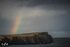 Rainbow St. Ninian's Isle, Shetland (Renate van den Boom) Tags: 11november 2017 europa grootbrittannië jaar landschap maand mainland natuur regenboog renatevandenboom rots shetland zeeoceaan zon