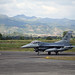 A U.S Air Force F-16 Fighting Falcon taxis on the flightline at the start of the Bilateral Air Contingent Exchange-Philippines