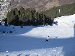 Attacking the Slope (gwackamo) Tags: skiing woman lady girl italy bormio alps snow red slalom course