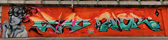 Graffiti 2014 in Bozen (pharoahsax) Tags: graffiti kunst bozen italien südtirol orte graffitycharacter objekte art streetart street urban urbanart paint graff wall artist legal mural painter painting peinture spraycan spray writer writing artwork tag tags worldgetcolors world get colors visualart