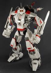 White Fire (hiddenderek) Tags: lego mech robot moc large custom legos white