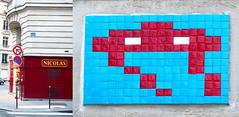 Space invader [Paris 16e] (biphop) Tags: europe france paris streetart space invader spaceinvader mur wall installation mosaic mosaique 75016 pa695
