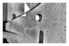 Wall and light (Takahiro Hiroki) Tags: japan monochrome blackandwhite bnw wall stairs light shadow