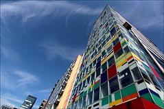 The Colorium (Logris) Tags: architektur architecture colorium medienhafen dusseldorf düssedorf buliding hochhaus farben colors canon 1022mm
