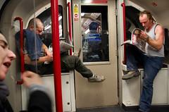 "080922_Tube_Men_01 (hoffman) Tags: tube londonunderground travel transport men male reading davidhoffman davidhoffmanphotolibrary socialissues reportage stockphotos""stock photostock photography"" stockphotographs""documentarywwwhoffmanphotoscom copyright"