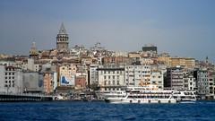 Istanbul panorama from the Bosporus (Bokeh & Travel) Tags: istanbul turkey byzantium constantinople galata panorama cityscape bosporus bosphorus