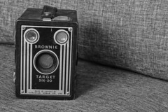 in your face / Black & White (cdn.slacker) Tags: camera old target brownie bw kodak black white blackandwhite 7dmarkll iso400 ex270llflash 02042018 recentphotos